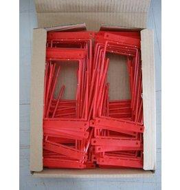Pressel Abheftbügel, Metall, kunststoffummantelt, Füllh.: 70 mm, rot