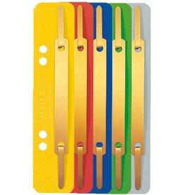 LEITZ Heftstreifen, Karton, 320 g/m², kurz, 35 x 158 mm, sortiert