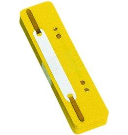 DONAU Heftstreifen, PP, 34 x 150 mm, gelb