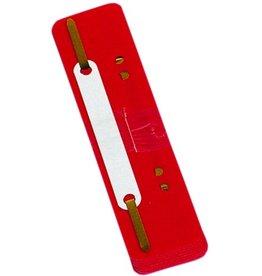 DONAU Heftstreifen, PP, 34 x 150 mm, rot
