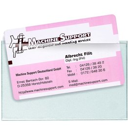 VELOFLEX Klebetasche VELOCOLL®, sk, 90 x 57 mm, farblos, für: Visitenkarte
