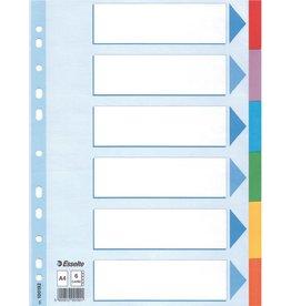 Esselte Register Standard, Kart., A4, 22,5x29,7cm, 6Bl., 6farb. Tabe