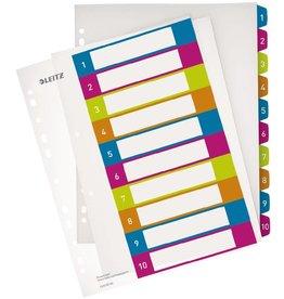 LEITZ Register WOW, PP, 1 - 10, Univ.loch., A4, überbreit, 10 Blatt