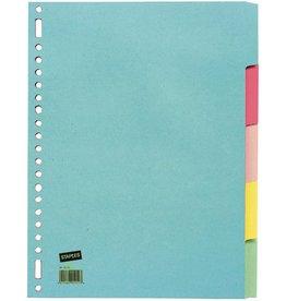 STAPLES Register, Kart., 180g/m², blanko, 11f.Loch., A4, 5Bl., 5farb.