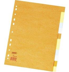 STAPLES Register, Kart., blanko, 11f.Loch., A4, 12Bl., 6farb.