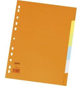 STAPLES Register, Kart., blanko, 11f.Loch., A4, 6Bl., 5farb.