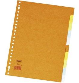 STAPLES Register, Kart., blanko, 23f.Loch., A4, 10Bl., 5farb.