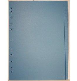 QUANTUS Register, Karton, blanko, 11fach Lochung, A4, 24 Blatt, blau