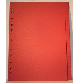 QUANTUS Register, Karton, blanko, 11fach Lochung, A4, 24 Blatt, rot