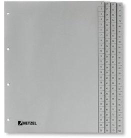Rexel Register, PP, 1-100, A4, vo.Höhe, 100Bl., grau