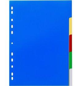 DURABLE Register, PP, blanko, Univ.loch., A4, vo.Höhe, 5 Blatt, 5farb. Tabe