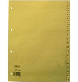STAPLES Register, Tauenpap.(RC), A-Z, Standardloch., A4, vo.Höhe, 20Bl., cham