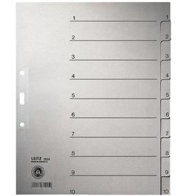 LEITZ Register, Tauenpapier (RC), 1-10, A4, volle Höhe, überbreit, 10 Blatt