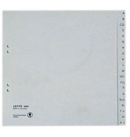 LEITZ Register, Tauenpapier (RC), A - Z, A4, halbe Höhe, 20 Blatt