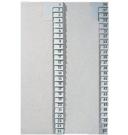 LEITZ Registerserie, Tauenpap.(RC), 1-25, A4, ha.Höhe, 25Bl.