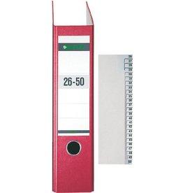 LEITZ Registerserie, Tauenpap.(RC), 26-50, A4, ha.Höhe, 25Bl.