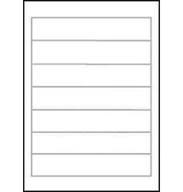 STAPLES Rückenschild, A4-Bg., sk, Pap., schm./kurz, 38x192mm, weiß