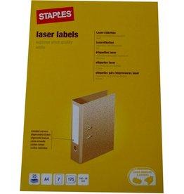 STAPLES Rückenschild, neutral, A4-Bg., Pap., schm./kurz, 38x192mm, weiß