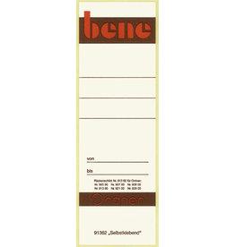 bene Rückenschild, selbstklebend, Papier, breit / kurz, 56 x 160 mm, weiß