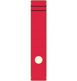 STAPLES Rückenschild, selbstklebend, Papier, breit / lang, 62x289mm, rot
