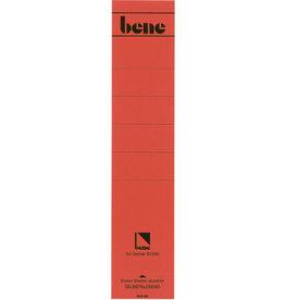 bene Rückenschild, selbstklebend, Papier, breit / lang, 63 x 270 mm, rot