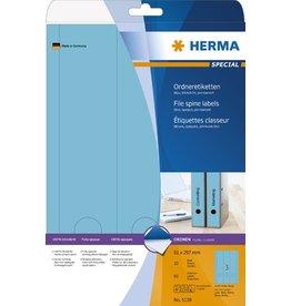 HERMA Rückenschild, sk, breit / lang, 61 x 297 mm, blau