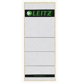 LEITZ Rückenschild, sk, Pap., breit/kurz, 61x157mm, grau