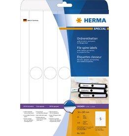 HERMA Rückenschild, sk, schmal / Hängeordner, 34 x 297 mm, weiß