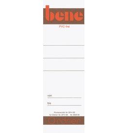 bene Rückenschild, zum Einstecken, Papier, breit / kurz, 49 x 158 mm, weiß