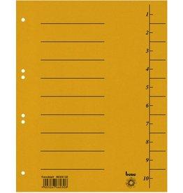 bene Trennblatt Intensiv, Karton, 210 g/m², 1-10, A4, gelb