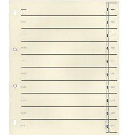 Wekre Trennblatt, Karton (RC), 1 - 0, 4fach Lochung, geöst, A4, chamois