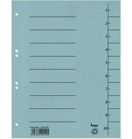 bene Trennblatt, Karton (RC), 250 g/m², 1-10, A4, blau