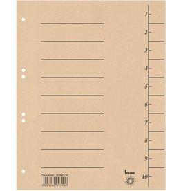 bene Trennblatt, Karton (RC), 250 g/m², 1-10, A4, chamois
