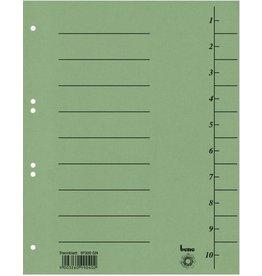 bene Trennblatt, Karton (RC), 250 g/m², 1-10, A4, grün