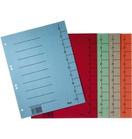 bene Trennblatt, Karton (RC), 250 g/m², 1-10, A4, sortiert