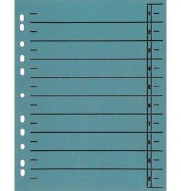 STAPLES Trennblatt, Kraftkarton (RC), 1-10, Eurolochung, A4, blau