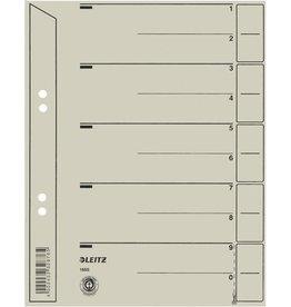 LEITZ Trennblatt, Kraftkarton (RC), 200 g/m², verstärkt, A5, grau