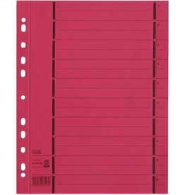 ELBA Trennblatt, Manila(RC), 250g/m², Euroloch., A4, rot