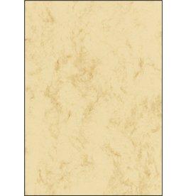 sigel Designpapier, Marmor, I/L/K, Edelkarton, 200 g/m², A4, beige