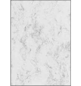 sigel Designpapier, Marmor, I/L/K, Edelkarton, 200 g/m², A4, grau