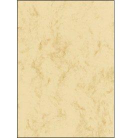 sigel Designpapier, Marmor, I/L/K, Feinpapier, 90 g/m², A4, beige