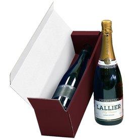 Pressel Geschenkschachtel, für 1 Flasche, 38,8 x 10,4 x 10,8 cm, rot