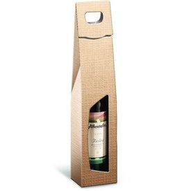 Karl Knauer Geschenktasche StrukturaVITA, für 1 Flasche, Karton, royalmetallic