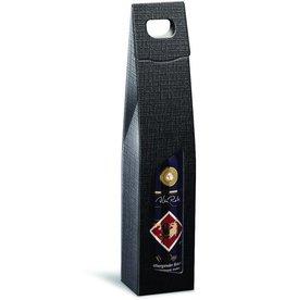 Karl Knauer Geschenktasche StrukturaVITA, für 1 Flasche, Karton, schwarz