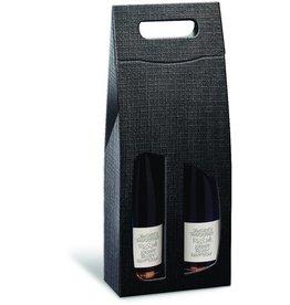 Karl Knauer Geschenktasche StrukturaVITA, für 2 Flaschen, Karton, schwarz