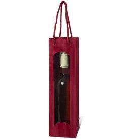 Karl Knauer Geschenktasche, für 1 Flasche, Wellpappe, 10 x 8 x 36 cm, bordeaux