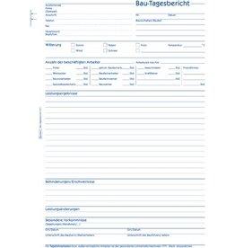 AVERY Zweckform Bautagesbericht, A4h, 3f., sd, 1./2./3.Bl.bedr., we/rs/gb, 3x40Bl.