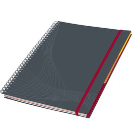 AVERY Zweckform Collegeblock notizio, kariert, A5, 90 g/m², Einband: grau, 90 Blatt