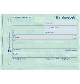 AVERY Zweckform Einnahmebeleg, A6q, 1f., Pap., Einband: blau, 50Bl.