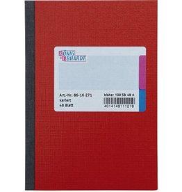 K&E Geschäftsbuch, Glanzkarton, kariert, A6, Einband: rot, 48Bl.